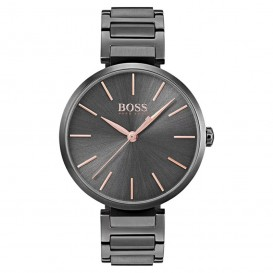 Hugo Boss HB1502416 Dameshorloge Allusion staal zwart-rosekleurig 36 mm