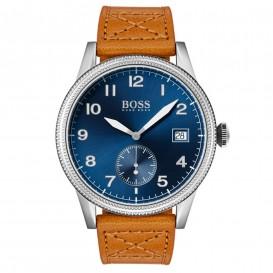 Hugo Boss HB1513668 Horloge Legacy staal/leder zilverkleurig/cognac 44 mm