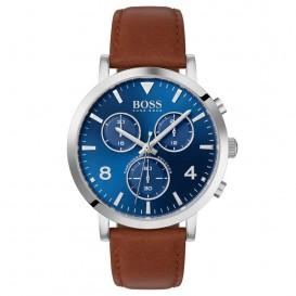 Hugo Boss HB1513689 Horloge Spirit chronograaf staal/leder 41 mm