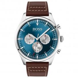 Hugo Boss HB1513709 Herenhorloge Chronograaf Pioneer staal/leder 44 mm
