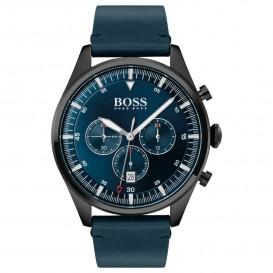 Hugo Boss HB1513711 Herenhorloge Chronograaf Pioneer staal/leder 44 mm