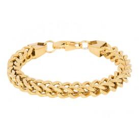 IXXXI B0024599001 Armband Vienna staal goudkleurig 17-19 cm