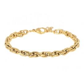 IXXXI B0024999001 Armband Ankara staal goudkleurig 17-20 cm