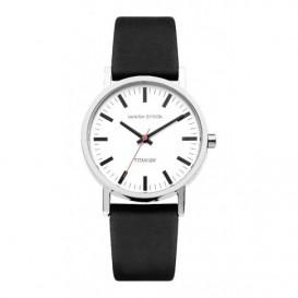 Danish Design IQ12Q199 Horloge titanium/leder 35 mm