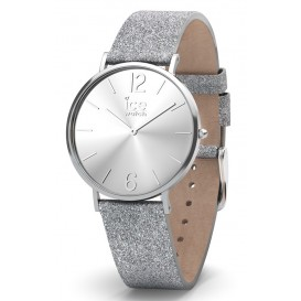 Ice-Watch Horloge City Sparkling Glitter Silver 38 mm IW015086