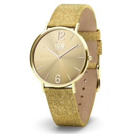 Ice-Watch Horloge City Sparkling Glitter Gold 38 mm IW015087