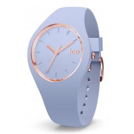 Ice-Watch ICE Glam Sky 41,5 mm lichtblauw-rosékleurig IW015333 (Horloge)