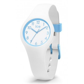 Ice-Watch ICE Ola Kids Cotton White wit-lichtblauw 30 mm IW015348