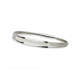 GALA DESIGN J0030 Armband Tripple Square zilver 19 cm