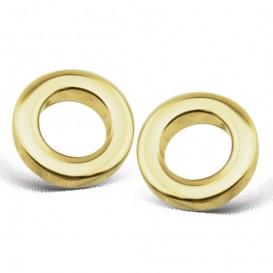 JWLS4U JE002G Oorbellen Circle zilver goudkleurig