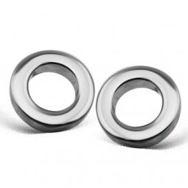 JWLS4U JE002S Oorbellen Circle zilver