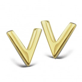JWLS4U JE004G Oorbellen V zilver goudkleurig