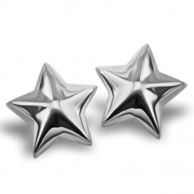 JWLS4U JE005S Oorbellen Star zilver