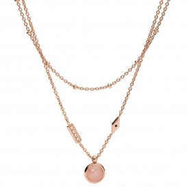 Fossil JF03674791 Ketting Classics Pink Sunset staal rosekleurig-roze