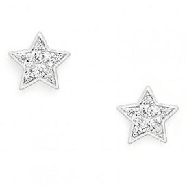 Fossil JFS00152040 Oorbellen Star zilver-zirconia zilverkleurig-wit