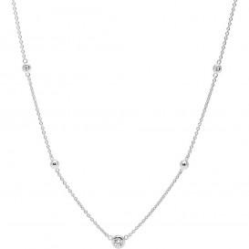 Fossil JFS00453040 Ketting zilver-zirconia zilverkleurig-wit 40-45 cm