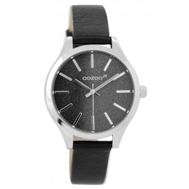 OOZOO Horloge Junior black-silver 35 mm JR299