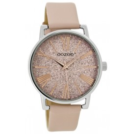 OOZOO Horloge Junior powderpink-silver 38 mm JR302