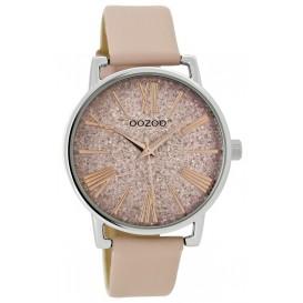OOZOO Horloge Junior powderpink-silver 38 mm JR302