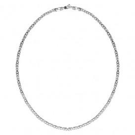 FirstChoice KON40 Ketting zilver Koningsschakel 4,0 mm breed 53,8 gram 55 cm