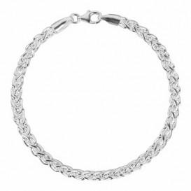 FirstChoice KON40 Armband zilver Koningsschakel 4,0 mm breed 20,8 gram 21 cm-2
