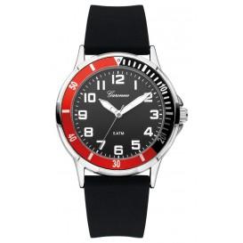 Garonne kinderhorloge 35 mm staal/rubber zwart-rood KQ13Q465