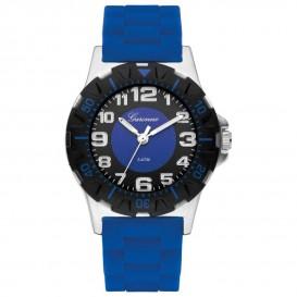 Garonne kinderhorloge 35 mm staal/rubber blauw KQ22Q464