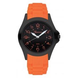 Garonne kinderhorloge 34 mm staal/rubber oranje-zwart KQ26Q466