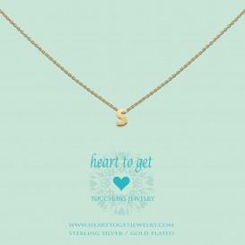Heart To Get L160INS13G Hanger Initials Letter S zilver goudkleurig