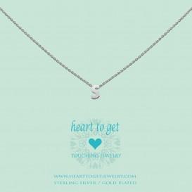 Heart To Get L160INS13S Hanger Initials Letter S zilver