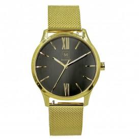 Montreville MON-3 Horloge Luxor staal goudkleurig-zwart 40 mm