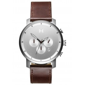 MVMT D-MC01-SBRL Horloge Chrono Silver-Brown 45 mm