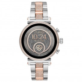 Michael Kors MKT5064 Access Sofie Generatie 4 Smartwatch rose- en zilverkleurig 42 mm