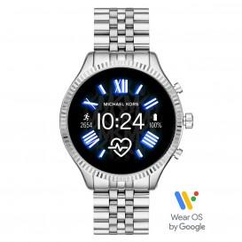 Michael Kors MKT5077 Access Lexington Gen 5 Display Smartwatch zilverkleurig 45 mm