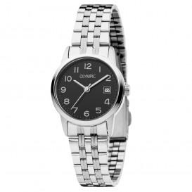 Olympic OL26DSS121 Horloge Portland staal zilverkleurig-zwart 26 mm