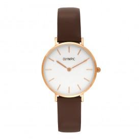 Olympic OL66DRL001 Horloge Ancona staal/leder 32 mm