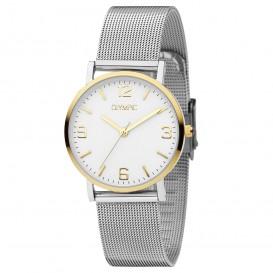 Olympic OL66DSS002B Horloge Parma staal zilver-en goudkleurig 30 mm