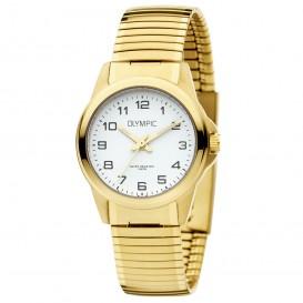 Olympic OL72DDD011 Horloge Phoenix staal rekband goudkleurig-wit 27 mm