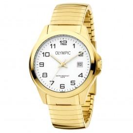 Olympic OL72HDD001 Horloge Phoenix staal rekband goudkleurig-wit 38 mm
