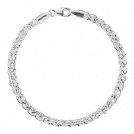 FirstChoice PAL04 Armband zilver Palmier 4,0 mm breed 10,4 gram 19 cm