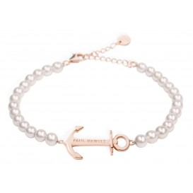 Paul Hewitt Armband Anchor Spirit Steel Rose Pearl 15,5-18 cm PH-ABB-R-P