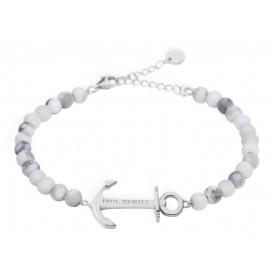 Paul Hewitt Armband Anchor Spirit Marble Silver-Grey-White 15,5-18 cm PH-ABB-S-M