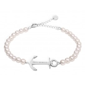 Paul Hewitt Armband Anchor Spirit Pearl Silver Steel 15,5-18 cm PH-ABB-S-P