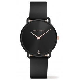 Paul Hewitt Horloge Miss Ocean Black Sunray rosékleurig-zwart 33 mm PH-M-B-BS-32S
