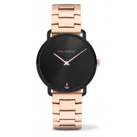 Paul Hewitt Horloge Miss Ocean Black Sunray rosékleurig-zwart 33 mm PH-M-B-BS-33S