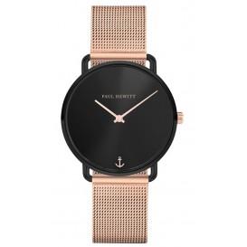 Paul Hewitt Horloge Miss Ocean Black Sunray rosékleurig-zwart 33 mm PH-M-B-BS-4S