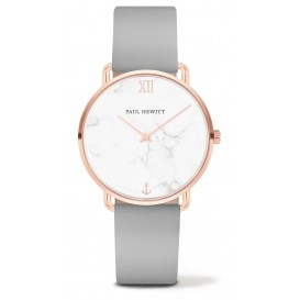 Paul Hewitt Horloge Miss Ocean Line Marble rosékleurig-grijs 33 mm PH-M-R-M-31S