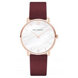 Paul Hewitt Horloge Miss Ocean Pearl rosékleurig-donkerrood 33 mm PH-M-R-P-34S