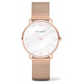 Paul Hewitt Horloge Miss Ocean Pearl Mesh rosékleurig 33 mm PH-M-R-P-4S
