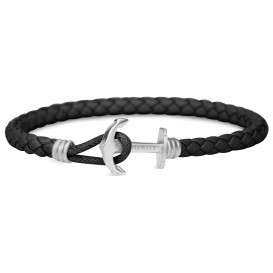 Paul Hewitt Armband Anchor PHREP Lite Black-Silver 18 cm PH-PHL-L-S-B-M